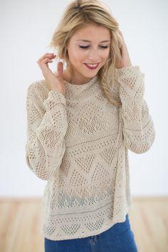 luftiger Pullover in Häkeloptik // light oversized sweater by SHOKO Shop via DaWanda.com