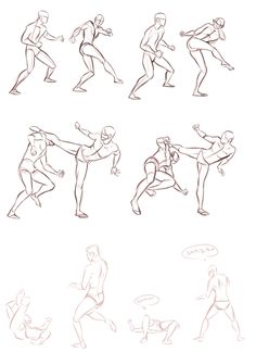 some practicing was done today (refs from. - whoops my hand slipped Drawing Body Poses, Body Reference Drawing, Animation Reference, Drawing Reference Poses, Anatomy Reference, Animation Sketches, Art Drawings Sketches, Arte Com Grey's Anatomy, Fighting Drawing