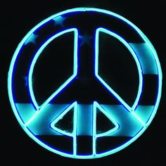 Peace For Us All Glowing Neon Wall Art Sign!