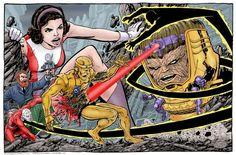 DC's Doom Patrol vs Marvel's MODOK by John Byrne