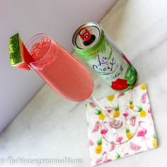 The Monogrammed Mom: Watermelon Spritzer Mocktail {Whole30}