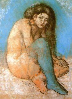 Picasso: femme nue aux jambes croisées (1903)