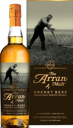 The Arran Malt Orkney Bere single malt Scotch whisky.