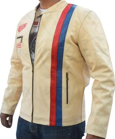 Iconic Style - Ultra Cool 100% smooth hand picked top grade soft Cowhide jacket #motorbike #motorcycle https://www.rtxleathers.com/casual-jackets-5/steve-mcqueen-range/le-man-classic/steve-mcqueen-heuer-grand-prix-quilted-cream-leather-jacket.html
