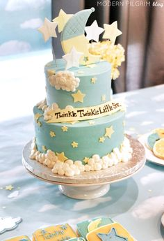 Twinkle Twinkle Little Star Cake baby shower baby shower ideas baby shower pictures baby shower cakes baby shower projects baby shower desserts