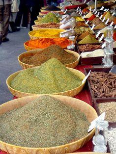 Herbs and spices at Place des Prêcheurs Market: Aix-en-Provence