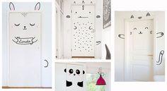 Décoration chambre d'enfant : 7 idées pour qu'il participe. Nos idées déco : 5- Personnifier la porte de sa chambre avec son animal préféré. Stickers, masking tape ou peinture, à vous de choisir votre outil !