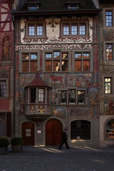 The Rother Ochsen (Red Ox) is the oldest tavern of the city of Stein am Rhein, Switzerland