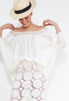 boutique de vetement BLOUSE createur boheme  Hamilton Hippie Chic, Lace Skirt, Hamilton, Skirts, Blouses, Paris, Boutique, Tops, Women