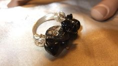 smoky quartz nugget coctail ring by honeypiezz2 on Etsy, $15.00