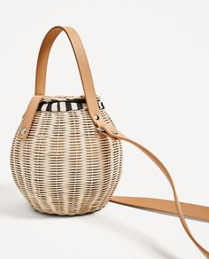 Raffia Bucket Bag View All Bags Woman Zara United States