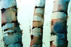 Painting Birch Trees in Watercolors Tutorial