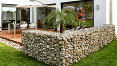 Low Cost gabion fence Cheaper than block stone gabion walls are easy to build http://www.gabion1.co.uk