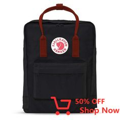 Buy the Fjallraven Kanken Backpack at eBags - With a classic look that never goes out of style, this backpack is perfect for the modern traveler w Tumblr Fashion, Women's Fashion, Fashion Trends, Unisex, Backpacker, Black Backpack, Projects To Try, Boards, Ebay