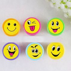 Redcolourful Encourage Cartoon Smile face Rubber stamps set Multicolor Cute Plastic Rubber Self Inking Stampers Toys Cartoon Smile, Smile Face, Gifts For Kids, Puzzle, Stamps, Toys, Plastic, Presents For Kids, Seals