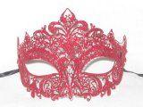 Red Metallo Colore Venetian Mask for Masquerade