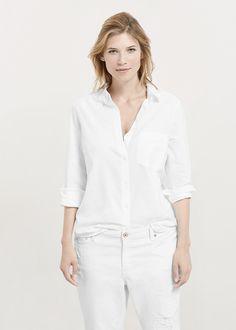 Baumwolle, hemdkragen, knopfverschluss vorne, lange Ärmel mit Knöpfen an den Enden, aufgesetzte Brusttasche. ZUSAMMENSETZUNG: 100% BAUMWOLLE....