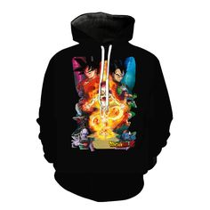 Novelty Casual Design Style Pullover A Bloody Fusion Between Monkey D Luffy And Saiyan Goku Hoodies Anime Women Men Sweatshirts Excellent In Cushion Effect Men's Clothing