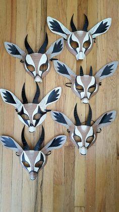 Gazelle mask gazelle costume by HighMoonCreations on Etsy