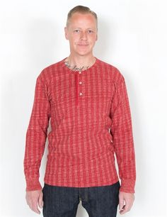 Levi's Vintage Clothing - 1920's Henley Red Umber Striped : from Levi'