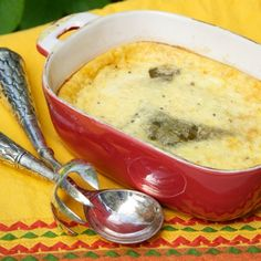 Flame Roasted Green Chiles and Chile Relleno Souffle Recipe
