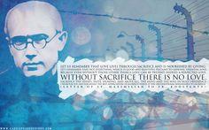 "St. Maximilian Kolbe ""Sacrifice"" Desktop Wallpaper--Cassie Pease Designs"