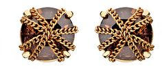ABS by Allen Schwartz Chain Wrapped Smokey Quartz Earrings on shopstyle.com