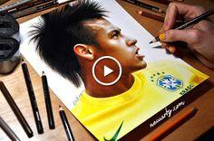 Neymar: Drawing #neymar #neymarjr #worldcup #worldcup2014 #brazil #drawing #soccer #football « Newsrty