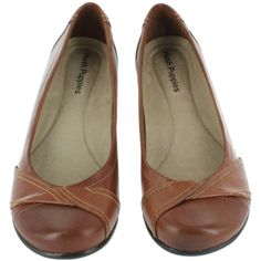 Hush Puppies Women's KANA PUMP tan slip on wedge shoes