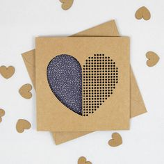 Dot Dot Heart Valentines Day Card Laser Cut Paper Cut Laser Cut Paper, Dot Dot, Kraft Envelopes, Laser Cutting, Etsy Store, Valentines Day, How To Apply, Dots, Colours