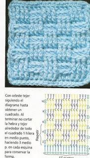 SANDRA PONTOS DE CROCHÊ E TRICÔ...........: CROCHE Stitch Chess pattern