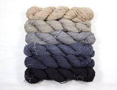 Sterling Moonbeam Yarn 6 mini skeins 564 yards by Zauberzeug
