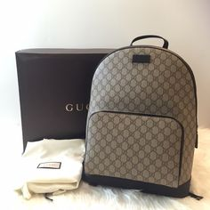 Coffee Gucci backpack Brand new Gucci backpack. Authentic . Retails for $1,250 + tax .. Coffee brown . 2 small slit pockets inside the bigger pocket of the backpack with a divider . Nice brown suede inside. Box and dust bag included. PRICE IS FIRM ✔️mercari available for $1000.  -purchased in LA I have receipt for proof of authenticity-   PLEASE NO RUDE COMMENTS ONLY COMMENT IF YOU'RE INTERESTED    ❌PRICE IS FIRM  ❌SERIOUS BUYERS ONLY                            ❌NO TRADES Gucci Bags…