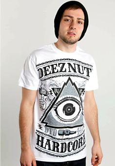 Deez Nuts - Allseeing Eye White - T-Shirt