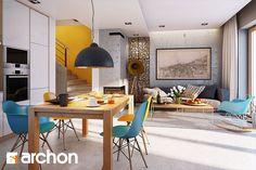 Dom pod miłorzębem 6 (GB) - zdjęcie od ARCHONhome - Jadalnia - Styl Nowoczesny - ARCHONhome