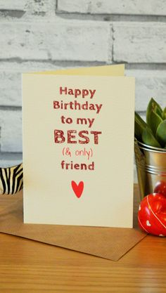 Funny best friend birthday card, best friend birthday gift ideas. Don't need it right now? Pin it for later!