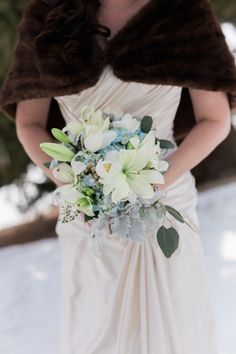 This bouquet brought a little hint of spring to our winter wonderland #Breckenridge #Florist #Flowers #Wedding  Florals by Petal & Bean Breckenridge, CO