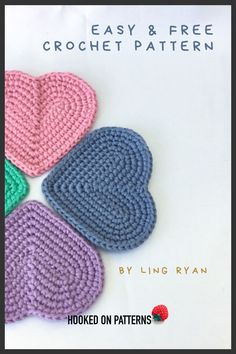 Free Heart Coaster Crochet Pattern Free Heart Coasters Crochet Pattern - Easy crochet patterns idea: make these coasters by Ling Ryan at hooked on patterns - get the completely free tutorial by clicking through! Easy Knitting Projects, Easy Knitting Patterns, Crochet Projects, Crochet Pattern Free, Knitting Needle Conversion Chart, Crochet Stitches, Doilies Crochet, Crochet Flowers, Needlepoint Stitches