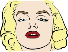 Merilyn Monroe Cartoon Vector