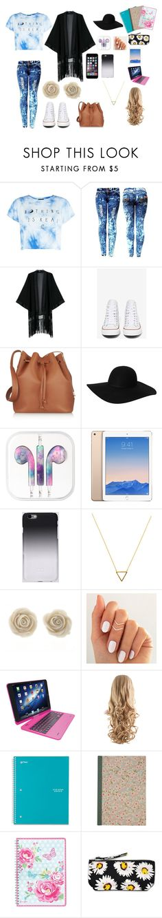 """""""Untitled #50"""" by issygarcem ❤ liked on Polyvore featuring Converse, Sophie Hulme, Monki, C6, Wanderlust + Co, Tzumi, Five Star, GreenGate and Motel"""