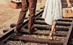 Country Wedding On Train Tracks