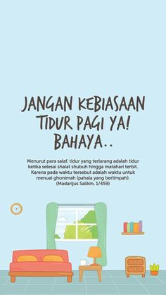 Bahaya tidur pagi. Reminder Quotes, Self Reminder, Study Quotes, Life Quotes, Hijrah Islam, Doa Islam, Moslem, Religion Quotes, Islamic Quotes Wallpaper