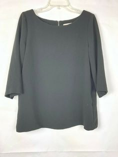 f94eb9e281042b Ann Taylor Loft Women s Black 3 4 Sleeve Top Size M Medium 1096K  AnnTaylor