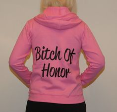 Bitch of Honor. Bridesmaid Personalized Bridal by BridesDelight, $32.50