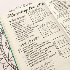 "#planwithmechallenge Day 13: ""Tried & True""  Kim's @tinyrayofsunshine recent post about how she sets up a new notebook prompted me to create this spread to plan for my new notebook in 2016.   #bulletjournallove #bulletjourna"