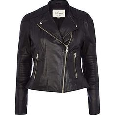 Black leather biker jacket 135,00 €