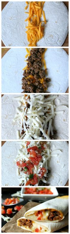 Copycat Meximelts are a drive thru favorite you can make at home! Melty cheese, flavorful beef and pico make these a family favorite! Tacos, Tostadas, Burritos, Enchiladas, Grilling Recipes, Beef Recipes, Cooking Recipes, Copycat Recipes, Vegetarian Recipes