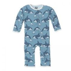 Print Fitted Coverall - Blue Moon Orca