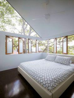 Light filled main bedroom, Sydney House renovation by Architect Christopher Polly