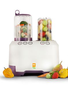 Ultimate Baby Food Center. This time-saving food processor features a unique side-by-side steamer and food processor for simultaneous blending, chopping, reheating, and steaming.